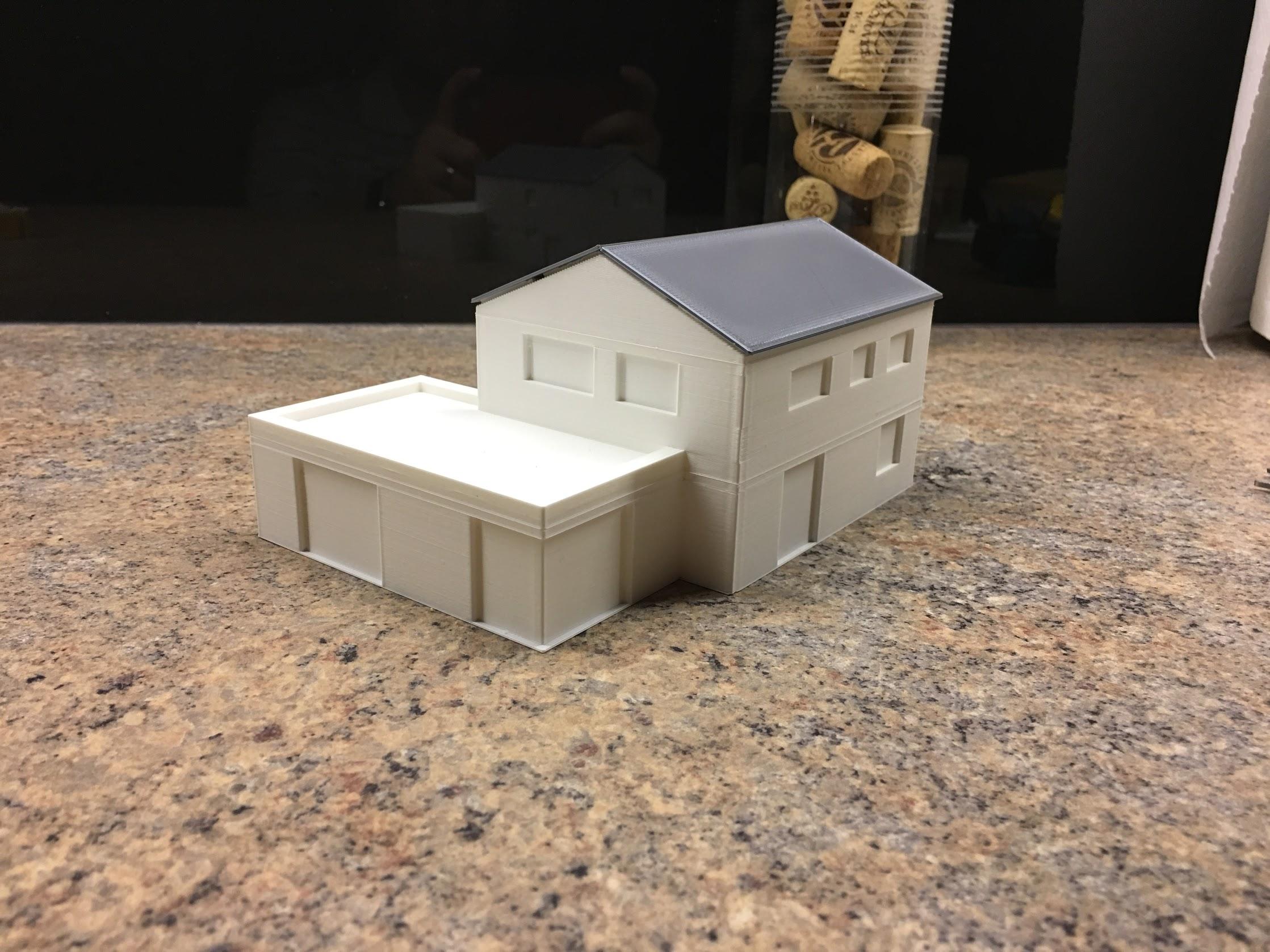 3D model - finální - jih