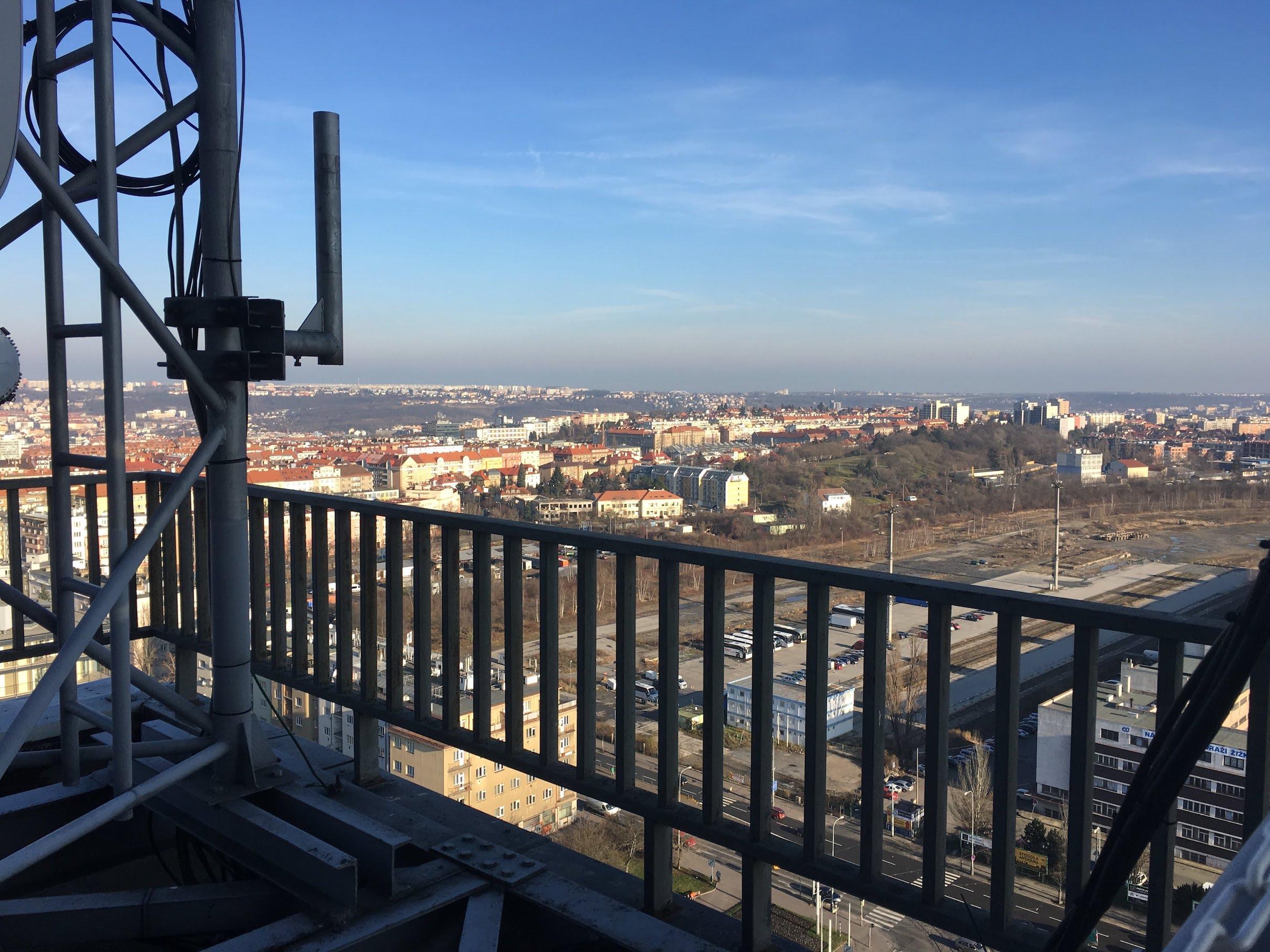 Výhled z věže - severovýchod