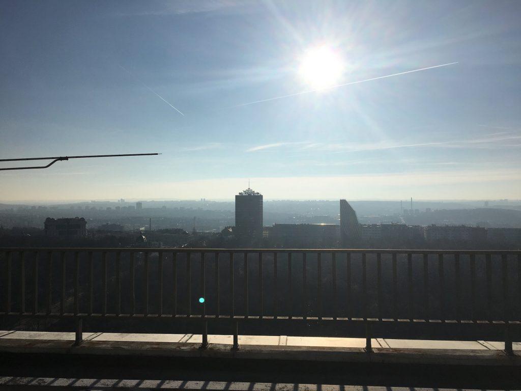Výhled z věže - jih