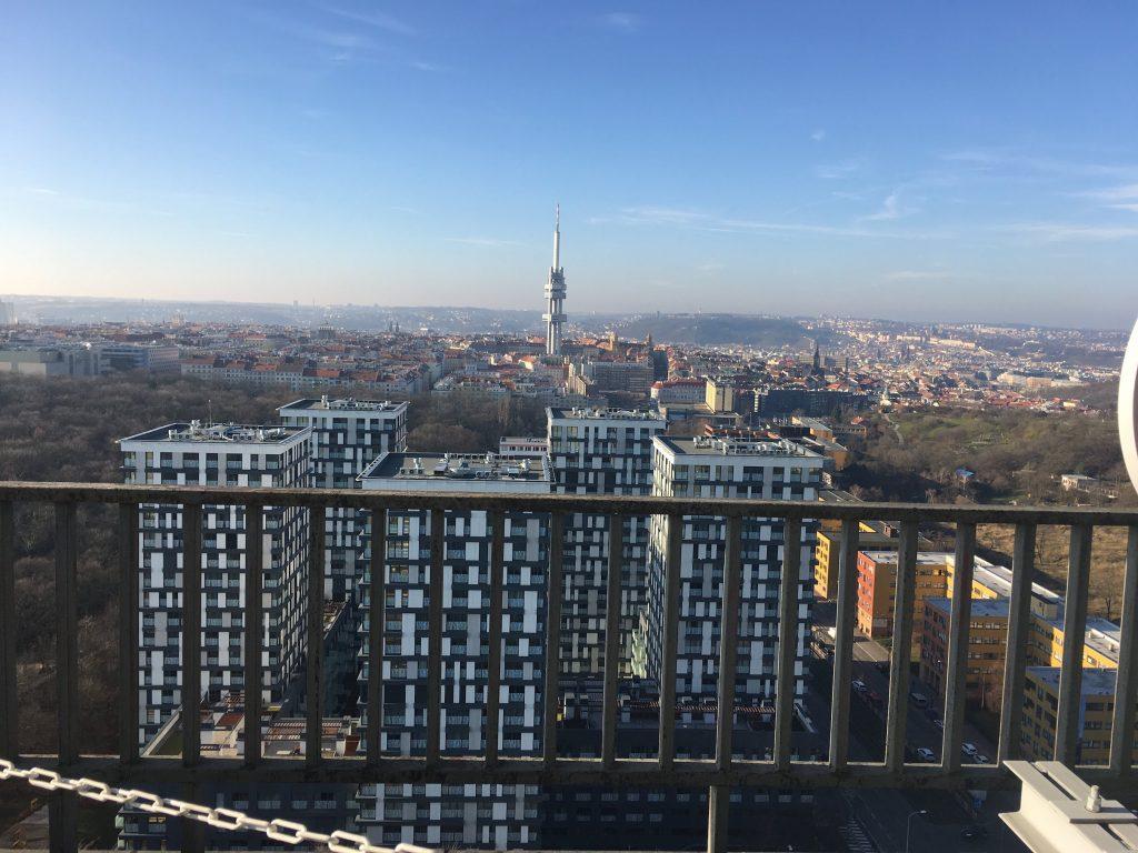 Výhled z věže - západ