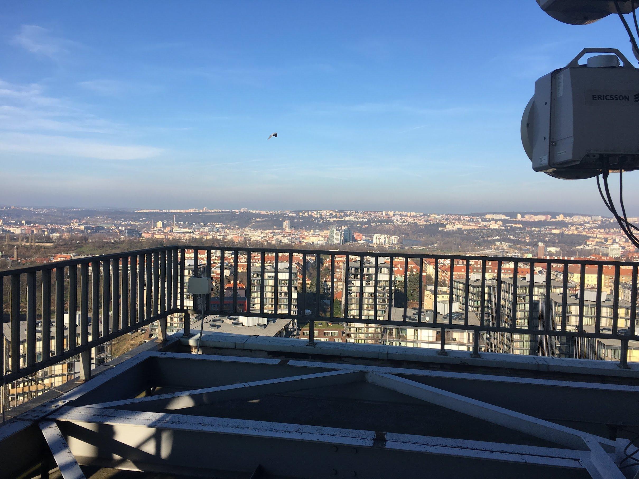 Výhled z věže - sever