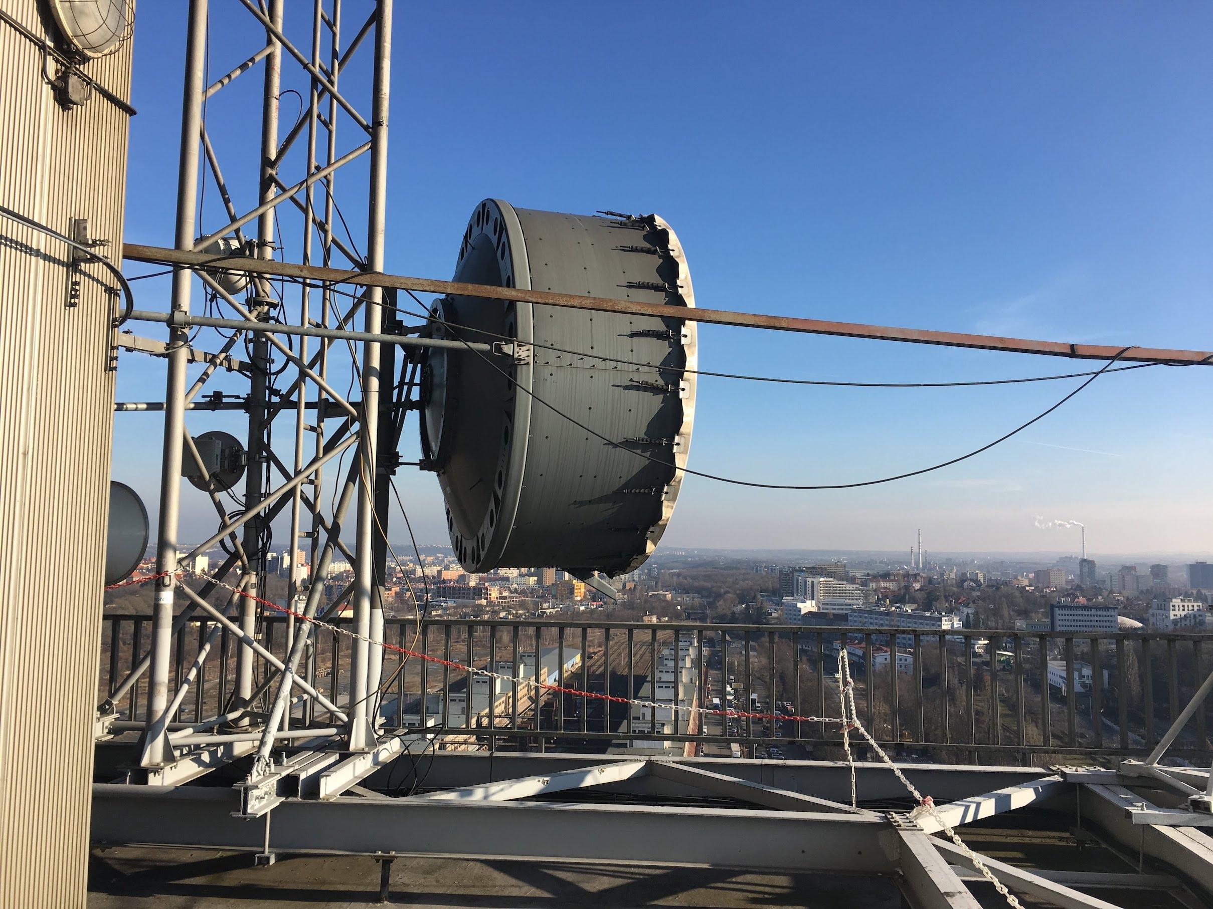 Výhled z věže - východ