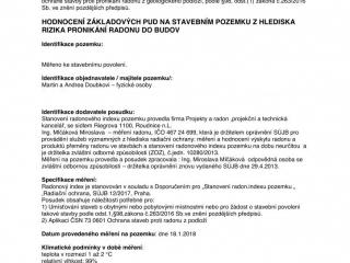 Protokol o měření radonu str. 3