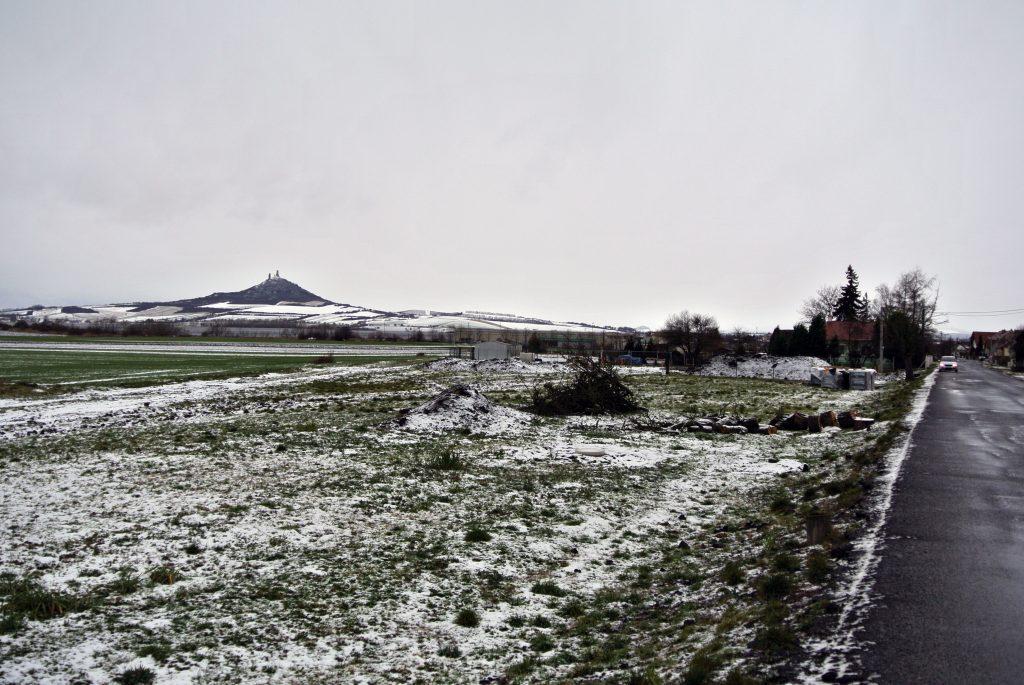 Zimní výhled na hrad Hazmburg
